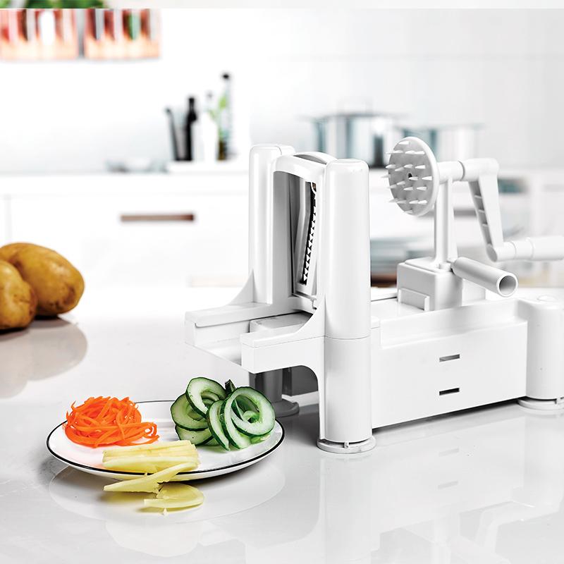 Amazon Potato Spiral Slicer Vegetable Spiralizer With Tri Blade Vegetable Cutter Cabbage Slicer Made In Taizhou Buy Veggie Spiralizerveggie Spiral