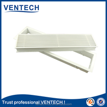 HVAC construction project linear bar grille with damper plenum box