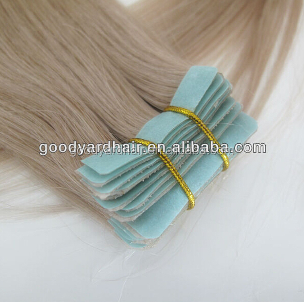 Fashionable Human Hair Hand Tied Skin Weft Pu Tape Hair Extensions