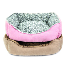 Wholesale Leopard Dotted Dogs Soft Plush Pet Beds