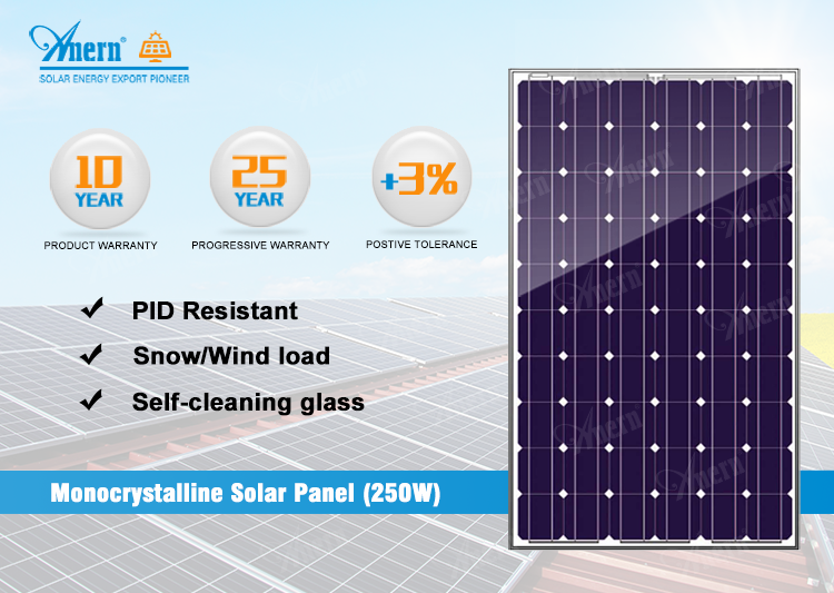 2019 factory price 250W monocrystalline solar cell for sale