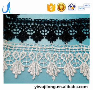 cord lace manufacture fancy polyester embroidery lace trim exporter