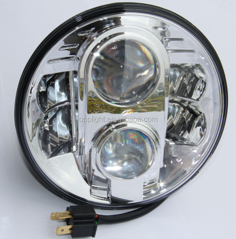 Opplight 12v Led Motorcycle Headlight Bulb 7 Inch Round