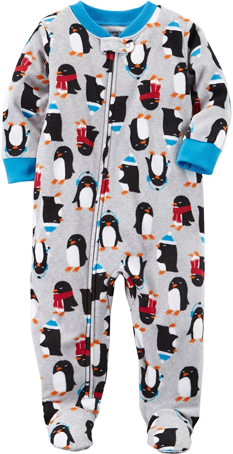 9d195605ff Carter s Boys  1-Piece Multi Animal Fleece Pajamas