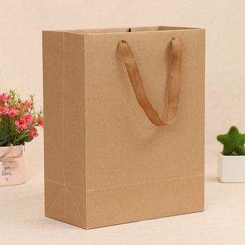 Custom Design Printed Shopping Bag Paper Brown Kraft Paper Bag