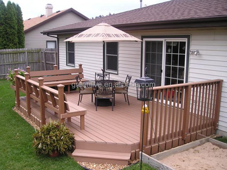 Good price faux garden path wood plastic composite decking for Plastic garden decking