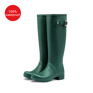 Fashion Women Rubber Rain Boots Custom Print Wellington Boot Women's Wholesale Gumboots
