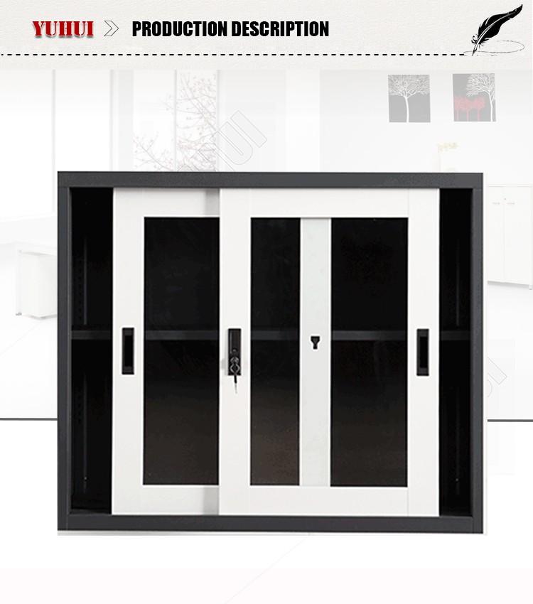 Small Metal Frame Glass Door Cabinet Low Sliding Glass Door