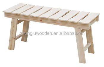Outdoor Furniture Long Garden Chairs Wood Park Benches Natural Stool Petrified Round Solid Wooden