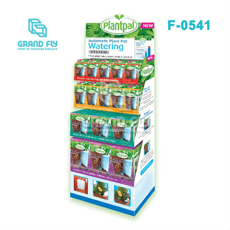 Paper Modular Watering Can Display Shelves for Retail Stores