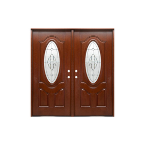 Wood grain fiberglass interior door for bathroom