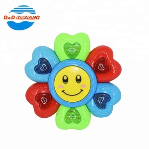 Colorful flower shape instrument drum toy for baby