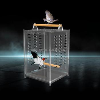 en gros la main acrylique clair oiseau transporteur cages pas cher acrylique perroquet. Black Bedroom Furniture Sets. Home Design Ideas