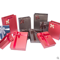 Christmas gift boxs paper packing with ribbon lid high quality paper packing manufacture