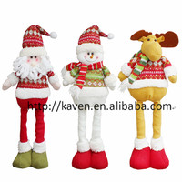 (Hot)plush santa claus /snowmen elf action figure toys, christmas decoration toy holiday gift toy,christmas gift for kids