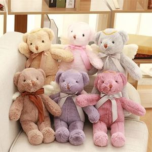 1pc 40cm Lovely Angel Bear Plush Toy Stuffed Animal Plush Doll Birthday Gift for Girls Baby Dolls