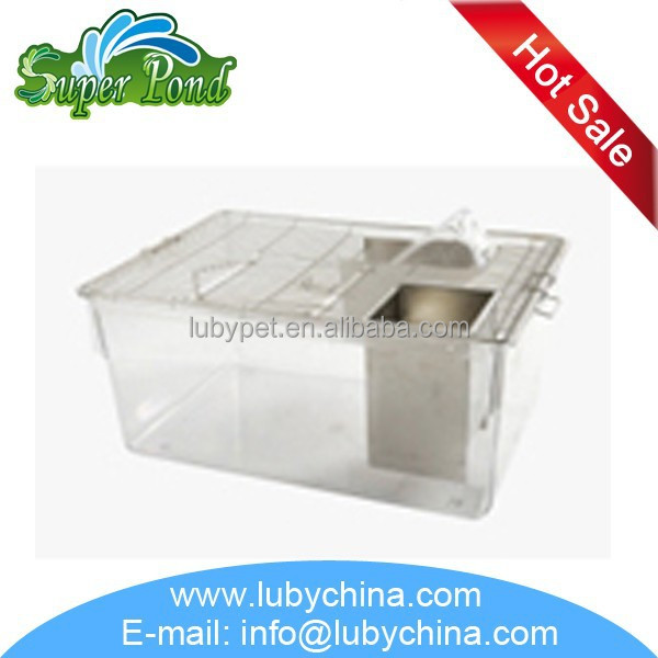 CP-6 mouse group breeding rat breeding cage with stainless steel mesh cover and drinking bottle
