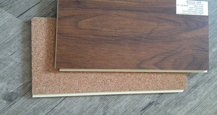 5 12mm wpc click vinyl flooring lvt pvc flooring with cork for Linoleum cork