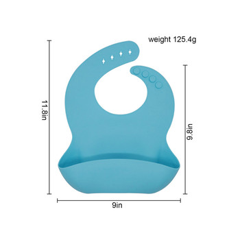 OEM Silicone Soft Baby Bib with Crumb Catcher,Large Christmas Baby Feeding Bibs