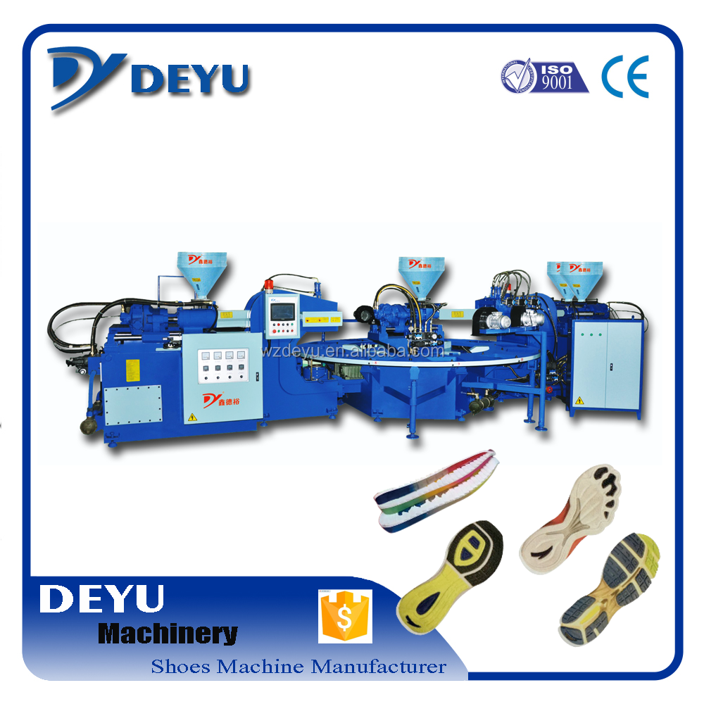 new fashion two injection head four color PVC Sole Machine for making slipper outsoles