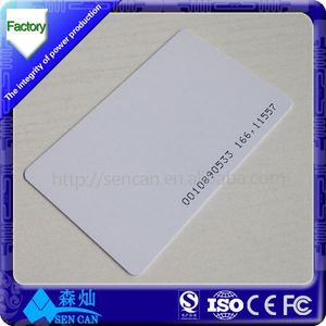 leading rfid card manufacturer - S50 blank rfid cards/recordable greeting card/blank pvc id card samples/
