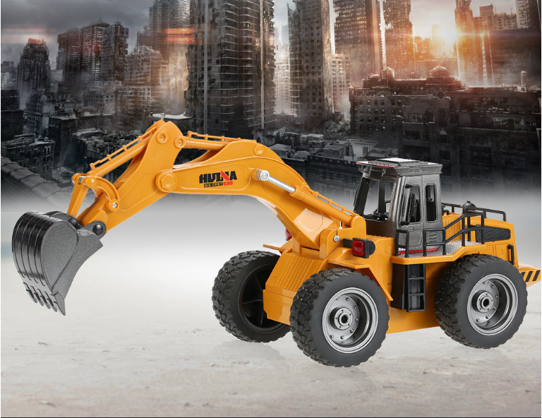 Huina 1530 1/18 RC Metal Excavator Remote Control Alloy Rooter Truck RTR With Charging Battery Kids Toys Christmas Gifts