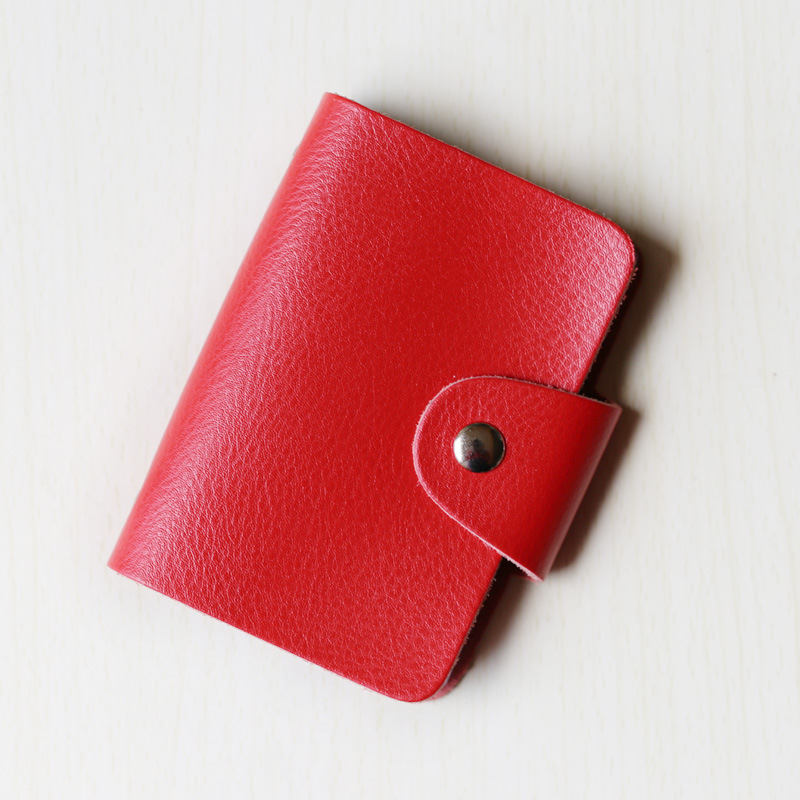 2017 Cheap Promotional Card Holder Wallet Soft PU leather card holder