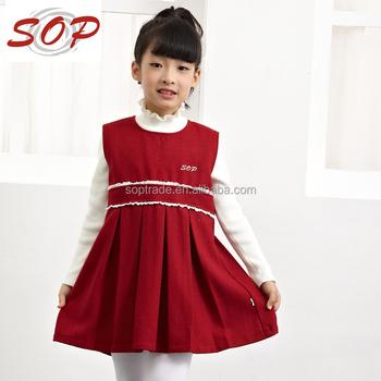 wholesale fashion design small girl christmas dress for children - Christmas Dress For Girl