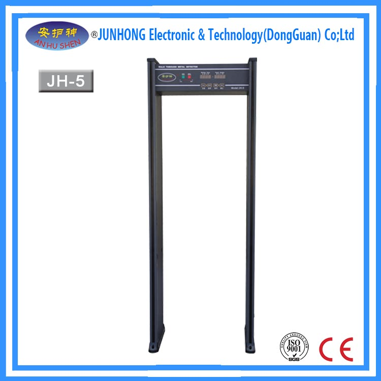 Professional CCTV camera inspection walk through metal detector