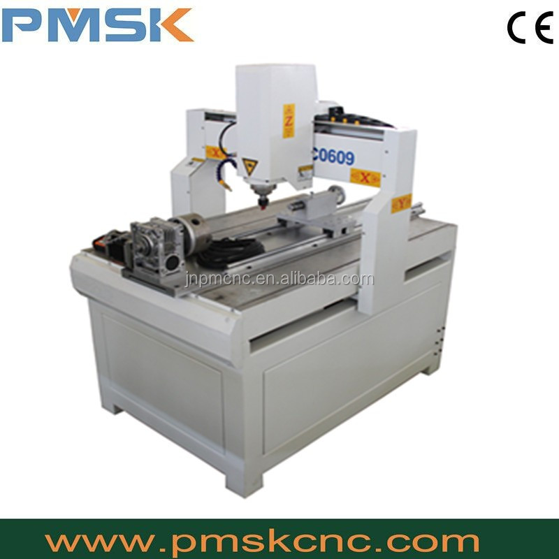 Mini 3d cnc router 6090 with rotary device
