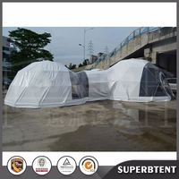 Outdoor wedding big tent china large custom led dome tent price for party