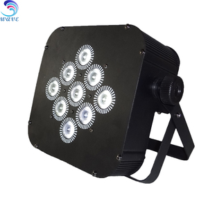 Remote Controller Led Stage Lighting 9x8w Rgbw 4in1 Wireless Dmx512 Battery Operated Led Flat Par Can