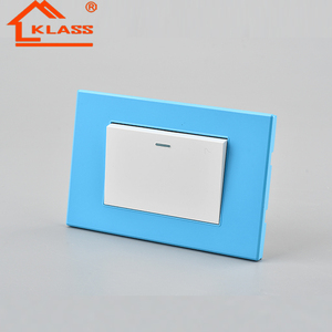 118 Type Electrical One Gang One Way Wall Switch US Blue color