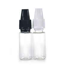 empty TPD clear e cig e liquid 10ml PET plastic dropper bottle with white Bericap and tip
