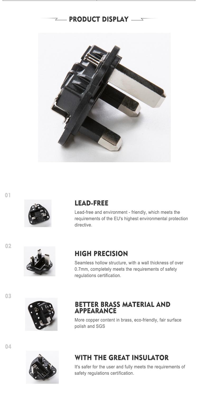 hot sell 3 pin hole plug wiring diagram universal wall plug