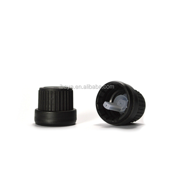 18/415 Black Plastic Tamper Evident Caps With Orifice Reducer For European  Dropper Bottles - Buy Tamper Evident Caps,Plastic Cap,Tamper Evident Caps