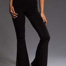 4f38f7fe69 hirigin Womens High Waisted Trousers Black Wide Leg Flared Slim Bell Solid  Pants