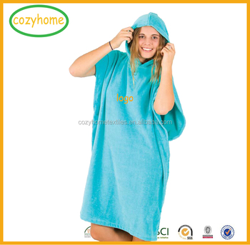 5824e9bf51 One Size Fits All Surf Poncho China Wholesale CustomSurf Changing Robe With  Logo 100% Cotton