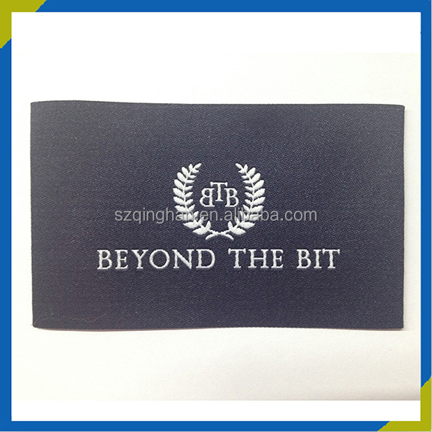 High Density Polyester Garment Woven Label Iron On Chinese Patch for T Shirt Clothing