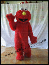 Long plush seasame street elmo mascot costume