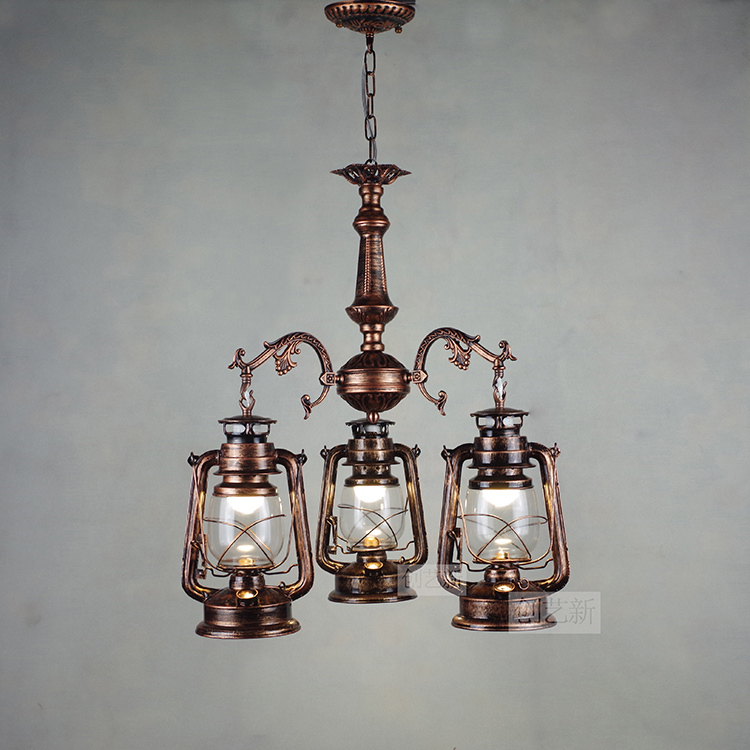 Antique Style Dining Room Chandeliers: Free Shipping Vintage Rustic Style Iron Lamps Living Room