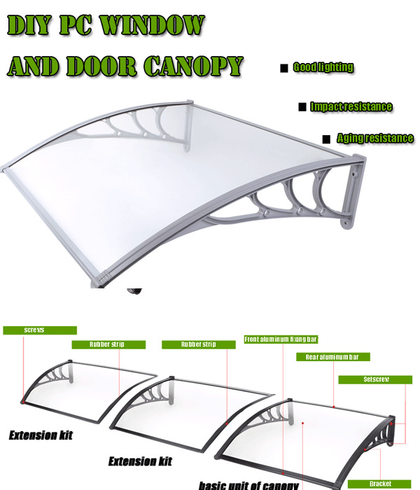 Front Door Shades With Plastic Roof And Aluminum Support