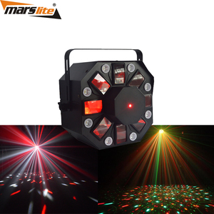 2018 Top quality 8x1W White LED and 5x3W RGBWA multi color christmas laser effect light show