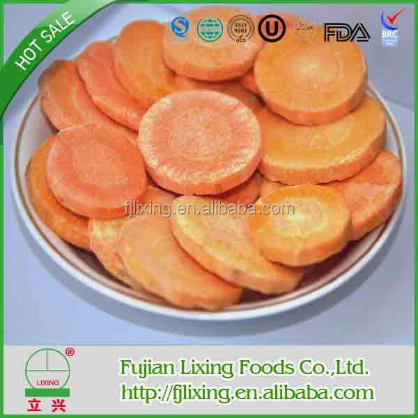 100% natural and healthy Freeze-dried Carrot in bulk /vacuum package FD vegetables