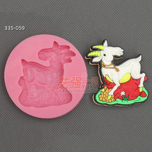 silicone goat shape cake mold,silicone animal shape cake mould,fondant cake decorating tools