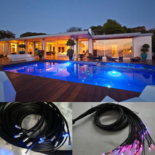 IP68 underwater decoration black jacket protection swimming pool fiber optic light