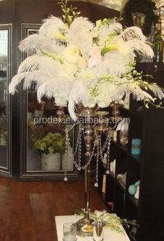 Tall Wedding Candelabra Centerpiece Ostrich Feather Centerpiece ...