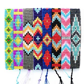 c60b59c3fafdd Friendship Bracelet Tassle Seed Beads Hippy Handmade Woven Beaded Charm  Bohemia Style Bracelet Popular Bracelets For Women Men - Buy Seed Beads ...