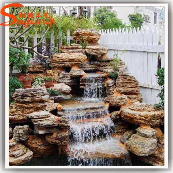 Agua v rtice fuente piscina cascada con bomba jard n al for Cascadas de piedra para jardin