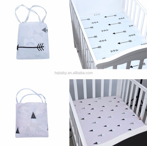 Wholesale high quality 100% organic cotton baby fitted crib sheets